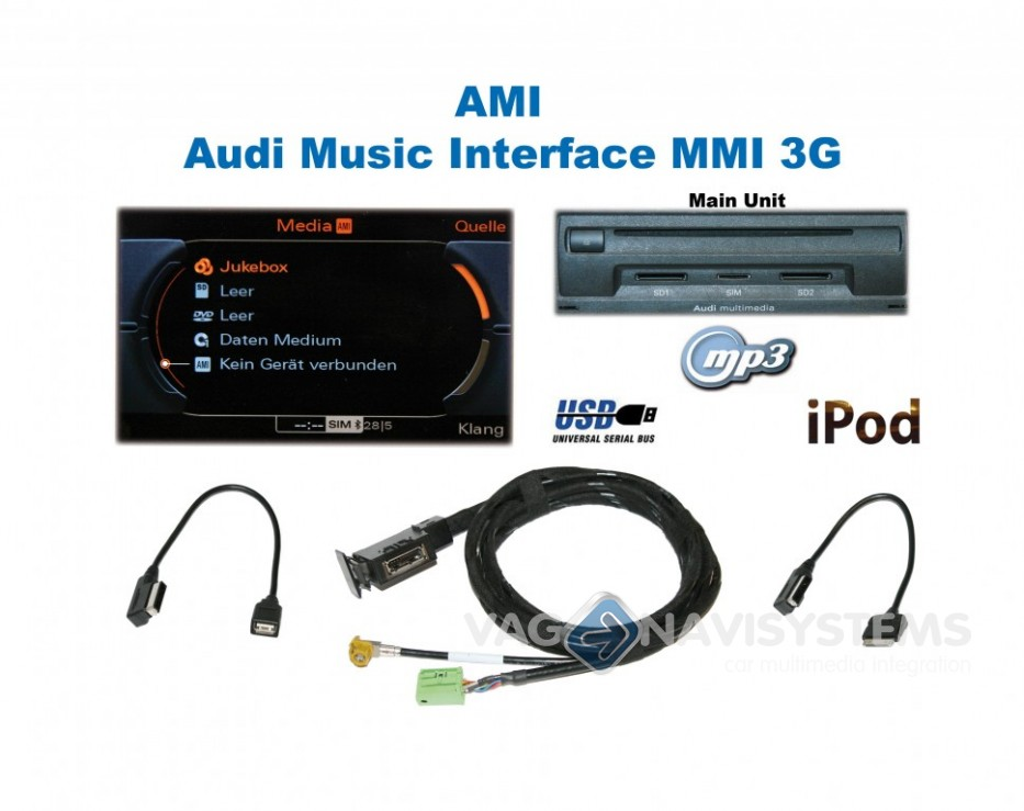 Ami Audi Music Interface Retrofit Set Audi Mmi 3g Q5