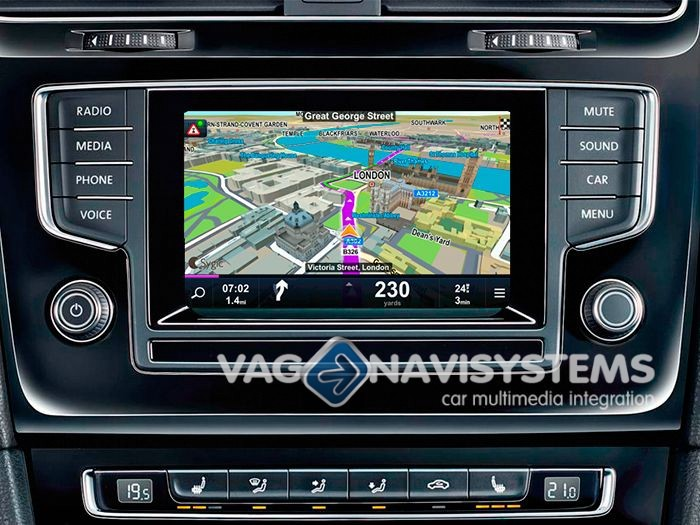 navigation vw composition colour discover media pro golf