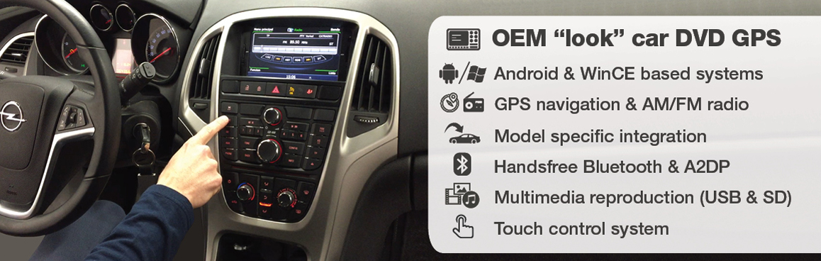 """OEM look"" car DVD GPS systems"