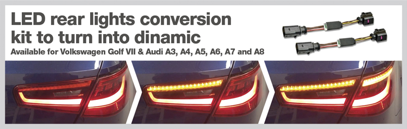 LED rear lights conversion kit to turn into dinamic